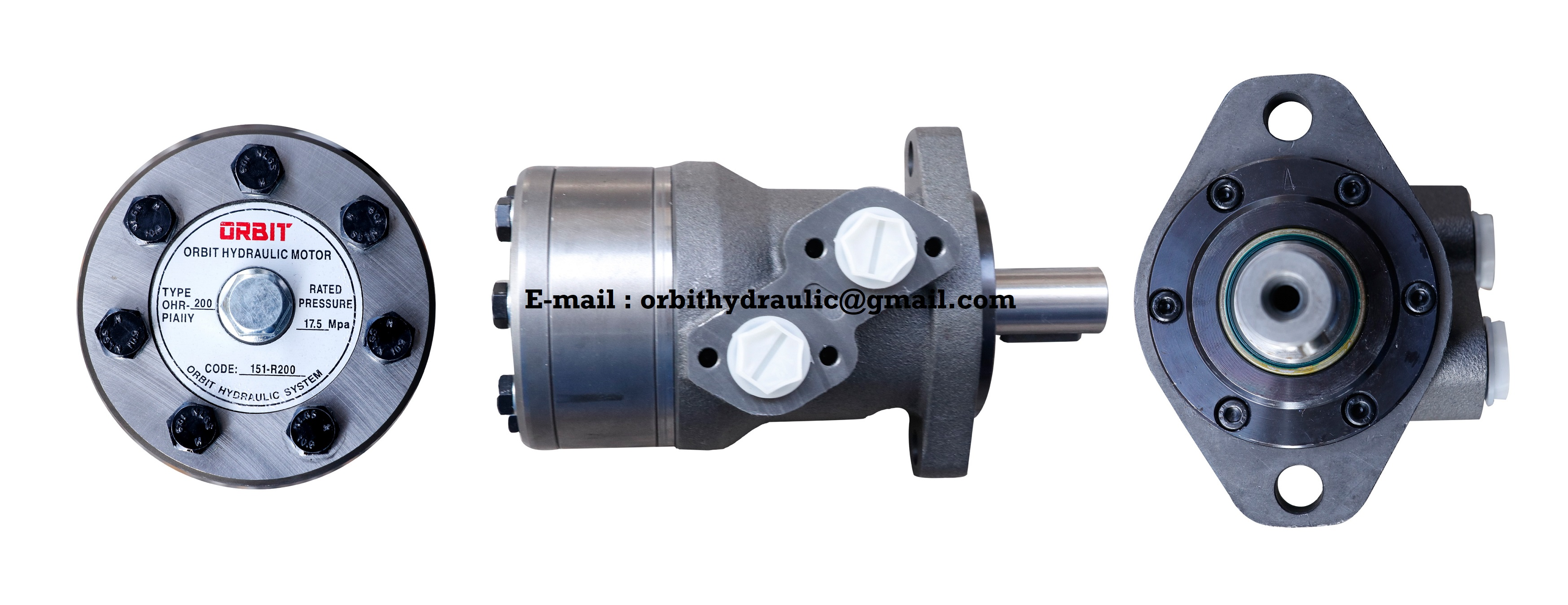 ORBIT OHR of OHR50, OHR80, OHR100, OHR125, OHR160, OHR200, OHR250, OHR315, OHR375 ORBIT Hydraulic Motor
